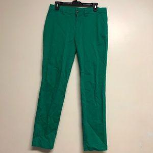 Green khaki pants by GAP